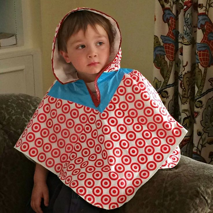 Moose Mouse Creations: The Unconventional Trashion Rain Poncho from plastic bags