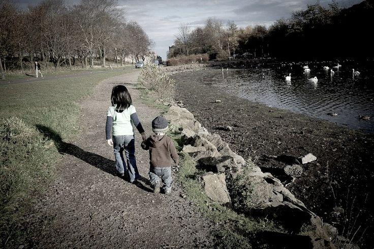 Strolling at St.Margaret's Loch Edinburgh..still can feel the breeze.