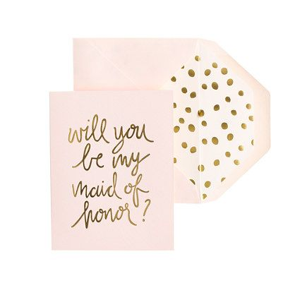 The Sugar Paper/J.Crew collaboration has produced these lovely letterpress cards for popping that big question