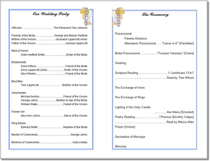 Printable Program Templates. best 25+ printable wedding programs ...