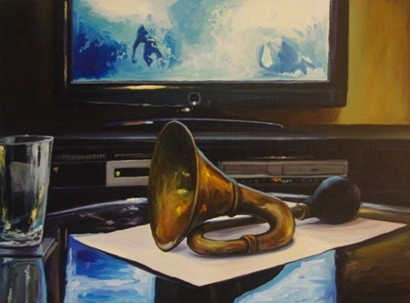 Ben Sheers  Horn (with Bill) - 2012  Oil on canvas  45 x 60 cm
