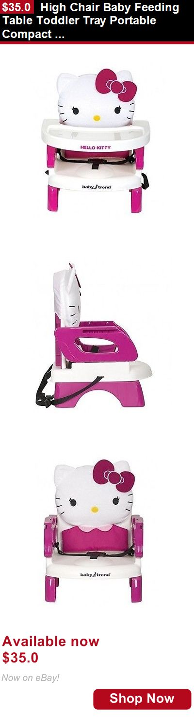 Baby High Chairs: High Chair Baby Feeding Table Toddler Tray Portable Compact Folding Easy Seat BUY IT NOW ONLY: $35.0