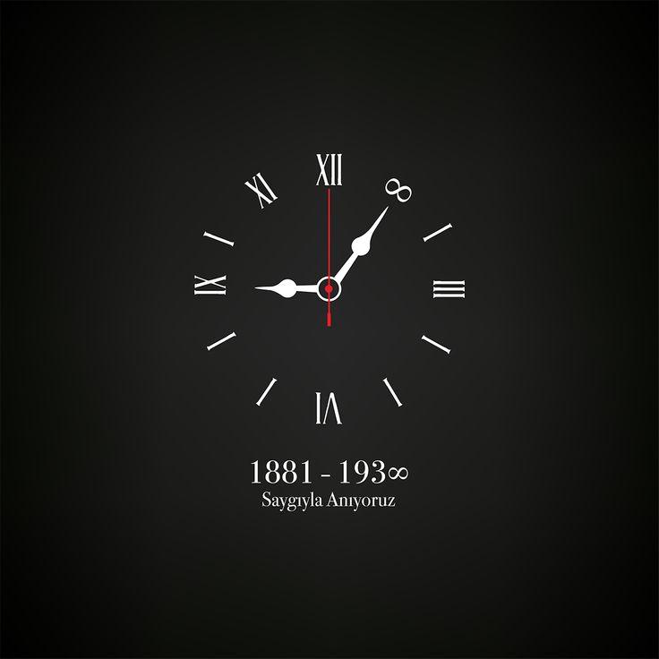 Vektörel Çizim | 10 Kasım, Atatürk'ü Anma Günü, Saat