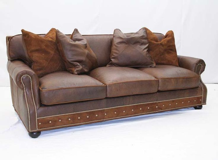 Desert Leather Sofa With Pillows Western Sofas And Loveseats   Rustic Sofa  With Deep Seating Offers