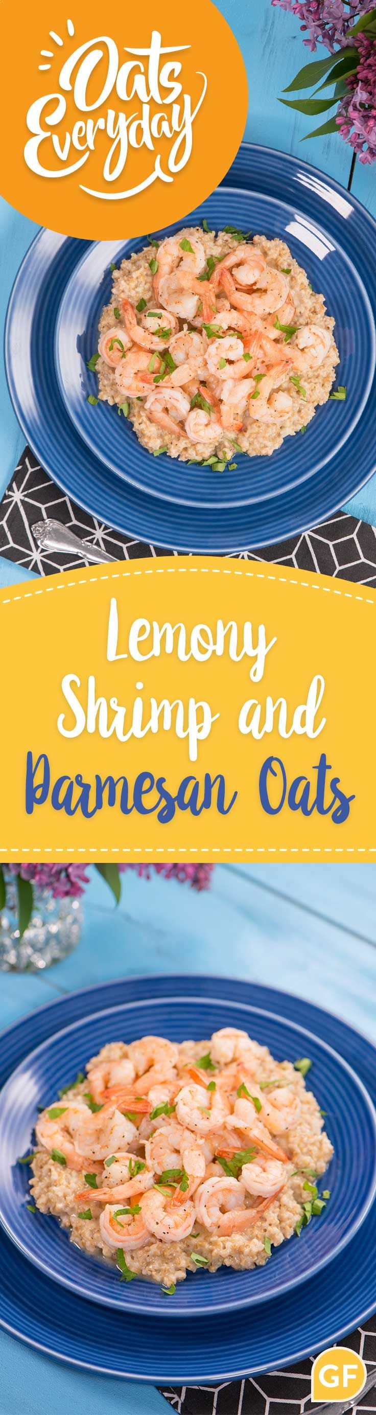 Use steel cut oats for a healthier alternative in your shrimp and grits!