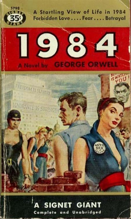 book cover for George Orwell's 1984, June 8, 1949.
