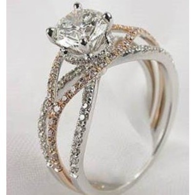 love love love this one.. two-tone rings are always the  prettiest!: Rosegold, Future Husband, Wedding Rings, White Gold, Dreams Rings, Princesses Cut, Diamonds Engagement Rings, The Bands, Rose Gold
