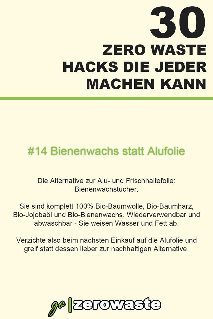 30 zero waste hacks  14 bienenwachs statt alufolie