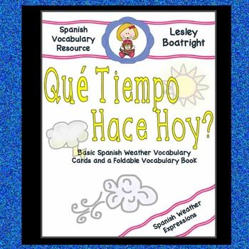 Simple Spanish Words to Learn:  Que Tiempo Hace?