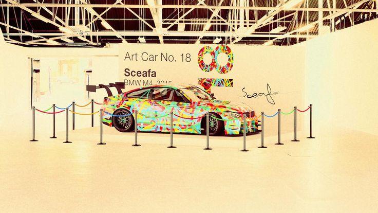 Sceafa Proudly Presents: BMW'S  Art Car No. 18 (BMW Z4, 2015) #Art #Museum #Kunst #Gallery #Expo #ModernArt #BMW #Car