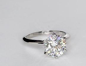 Classic Six Prong Engagement Ring in Platinum #BlueNile