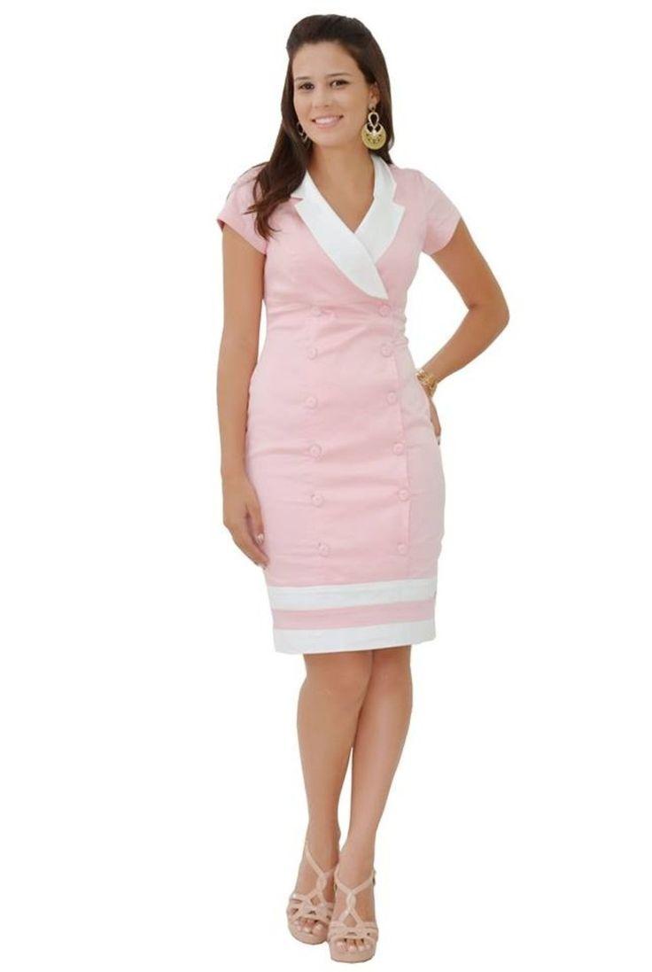 Vestido Transpassado Rosa De Moda Evang 233 Lica Da Bella