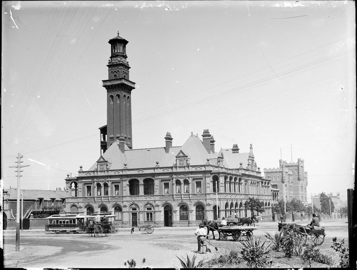 Eastern Hill fire station, East Melbourne, c1893-1914. Photograph courtesy State…