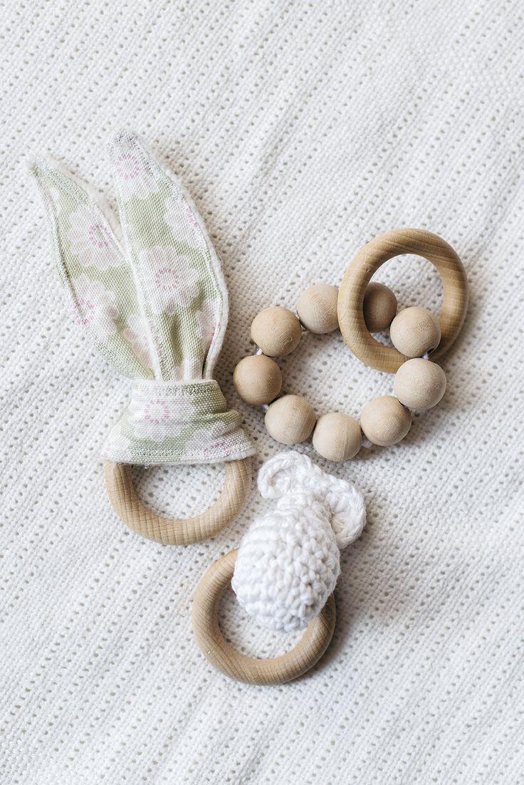 diy babyleksaker i trä wooden baby toys