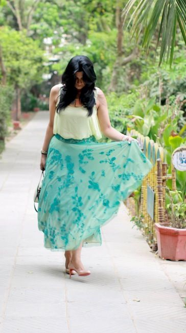 Outfit of the Day : Aqua Green Skirt photo