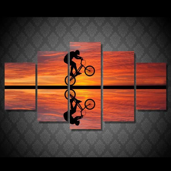 Limited Edition BMX Sunset Canvas – Modern Arrival