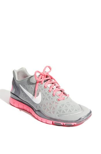 Nike Free TR Fit Womens Wolf Grey Pink Womens