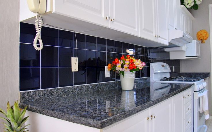 Stone Blue Kitchen Cabinets