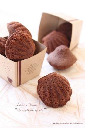 「【バレンタイン】マドレーヌ・ショコラ」きゃらめるみるく | お菓子・パンのレシピや作り方【corecle*コレクル】