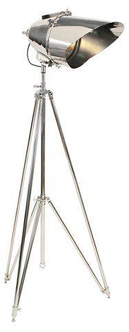 Cutter Tripod Lamp, Polished Nickel - Ralph Lauren Home - Brands   One Kings Lane