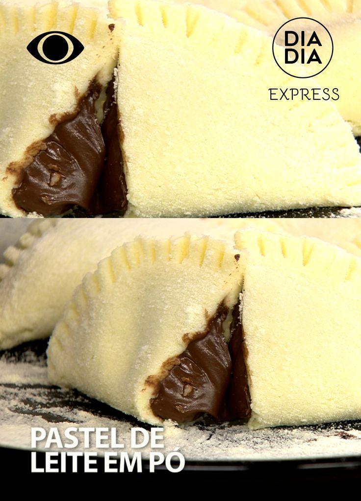 Pastel de Leite em Pó com recheio de Creme de Avelã. Aprenda a fazer sobremesa deliciosa feita com Leite em pó e recheio de Creme de Avelã. Receita com creme de avelã. Sobremesa com chocolate.
