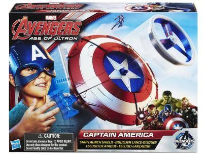 Escudo Lança Disco Capitão América - Marvel Avengers Age Of Ultron Hasbro com as melhores condições você encontra no Magazine Raimundogarcia. Confira!