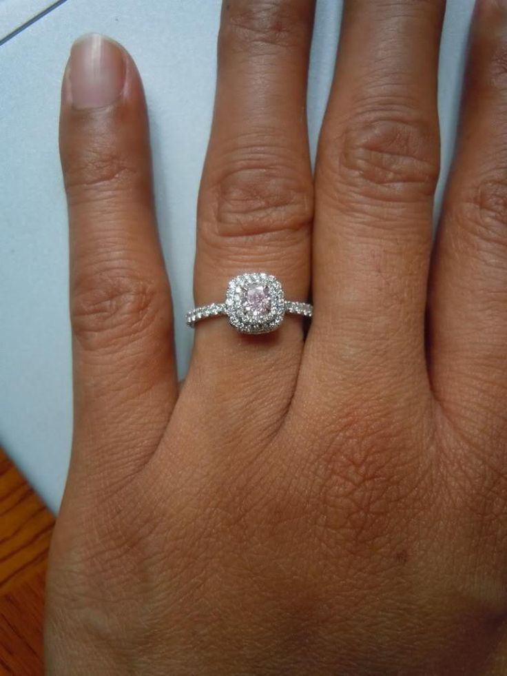 Double Halo Engagement Ring With Wedding Band In Hand 38 ...