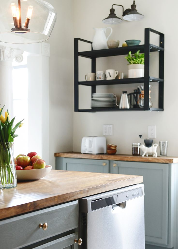 Those shelves for the dining room - via 100 year old home gets a 3 Day Kitchen Makeover for less than $5K! - Chris Loves Julia