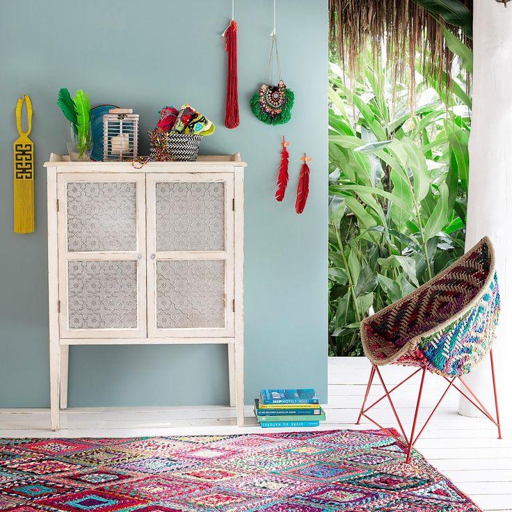 Wooden storage cabinet in off-white W 86cm Tins   Maisons du Monde
