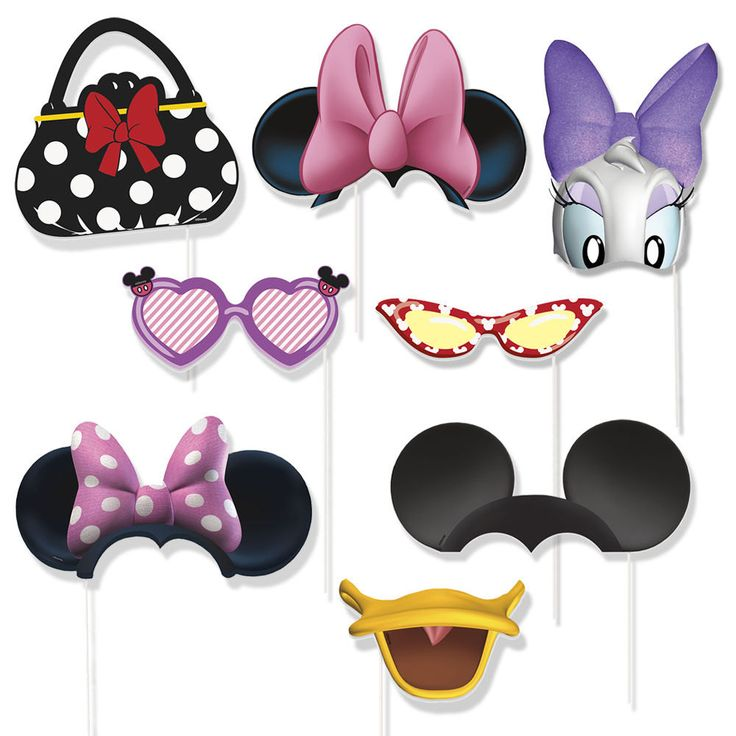 Disney Minnie Mouse Daisy Duck Photo props with sticks party favor Birthday by AdorableLynn on Etsy