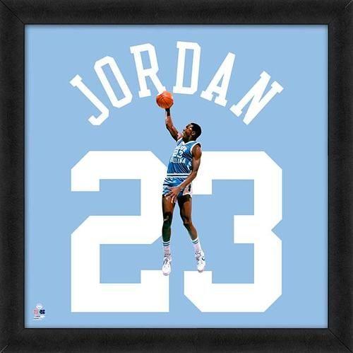 Michael Jordan Framed North Carolina Tar Heels 20x20 Jersey Photo