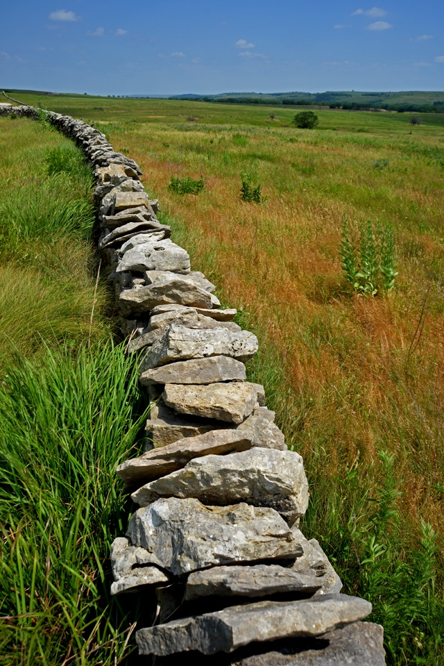 Native stone fence, Native Stone Scenic Byway.