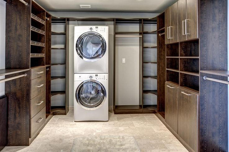 master bedroom walk in closet with washer & dryer - Google Search