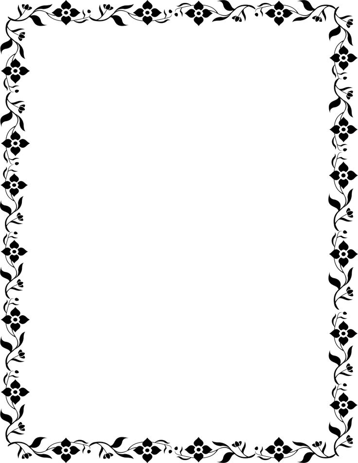 vine blossoms BW Journaling Pinterest Leaves and Journaling - border templates for word