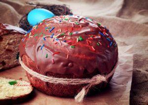 Рецепт Пасхального кулича с шоколадной глазурью