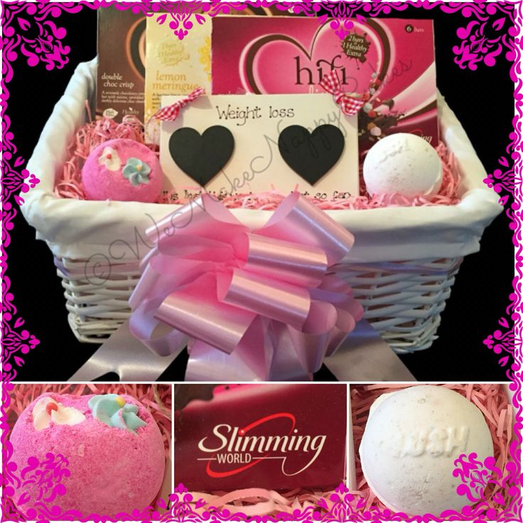 Mothers Day Slimming World Pamper Hamper with Weight Loss Plaque