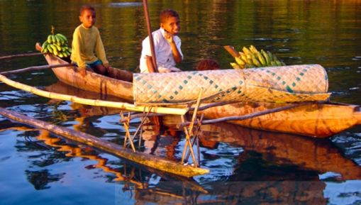 Louisiade Archipelago - The locals use dugout canoes and outrigger canoes known as lakatois.  https://gudmundurfridriksson.wordpress.com/