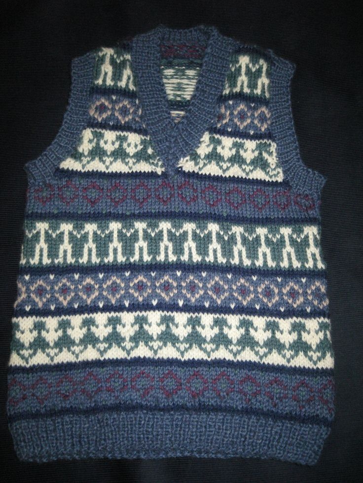Fair isle tank top.
