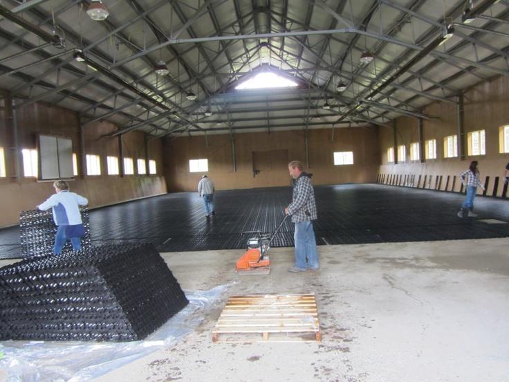 HoofGrid installation in an indoor arena