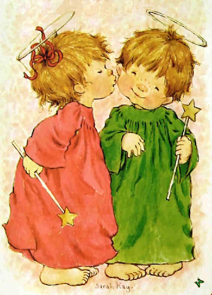 christmasillustr.quenalbertini: Christmas Angels by Sarah Kay