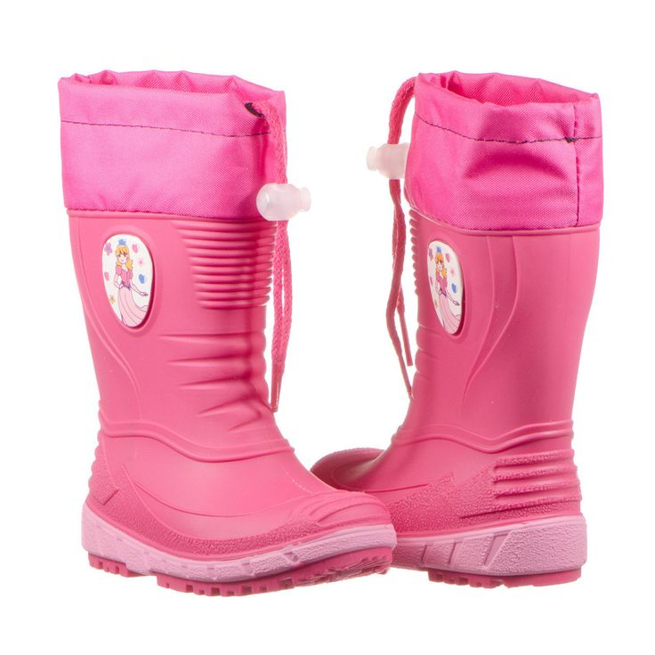 Girl's Princess pink rain boots with arch support, made in Europe. www.ciciban.ca #ciciban #europe #pink #princess #toddler