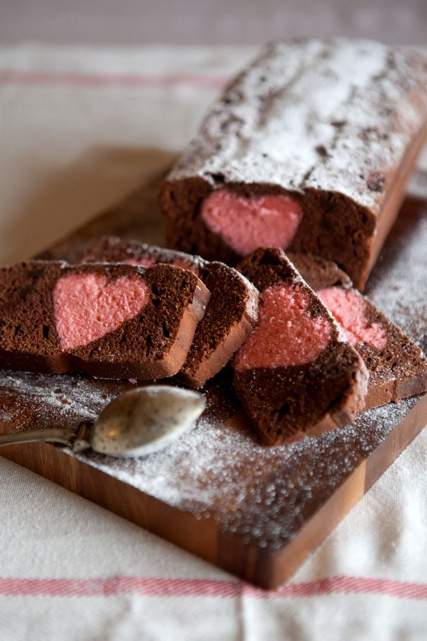Hidden chocolate heart cake