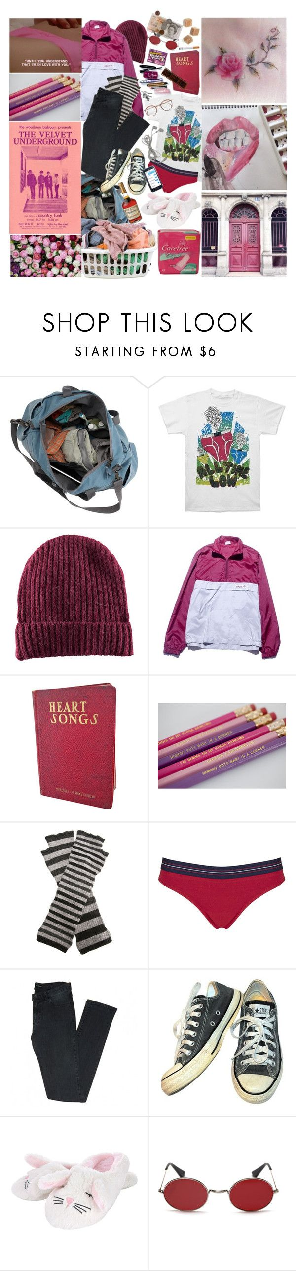 """""""Freezing Rain & Emotional Pain"""" by ilovewangs911 ❤ liked on Polyvore featuring Laundry, H&M, adidas, Cooperative Designs, Topshop, The Kooples, Converse and Murdock London"""