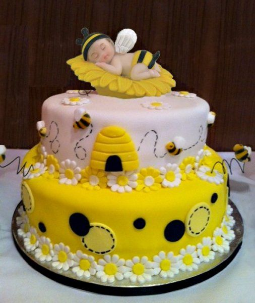 Bumble Bee Baby Shower Cake Ideas