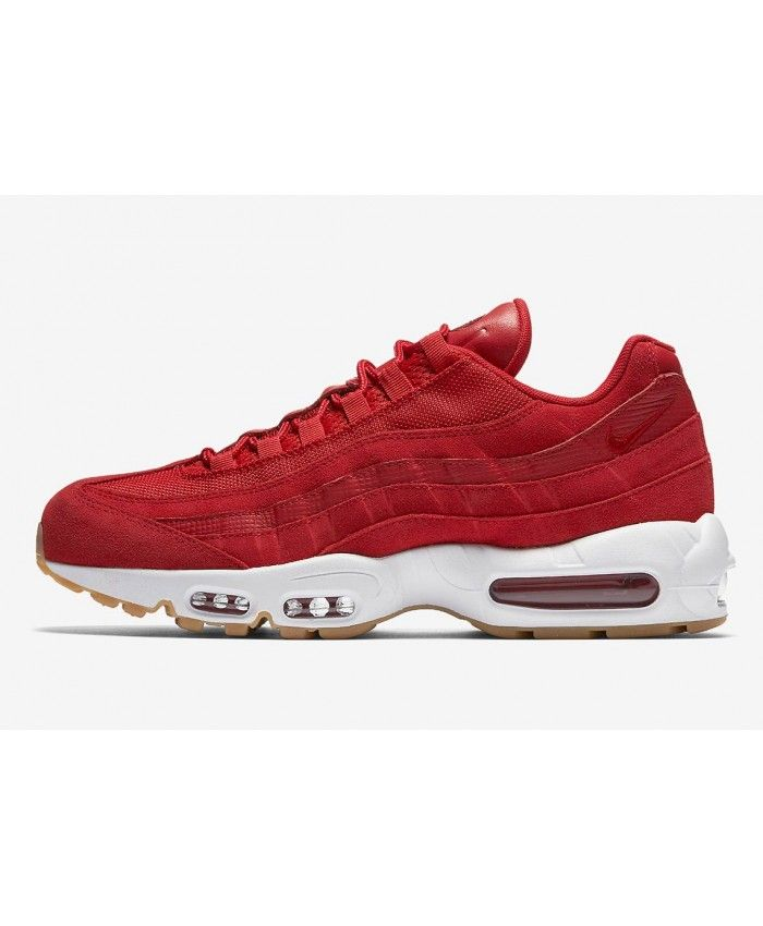 best authentic 83e1f 4bb11 Nike Air Max 95 Premium Gym Red White Trainers | •aesthetic ...