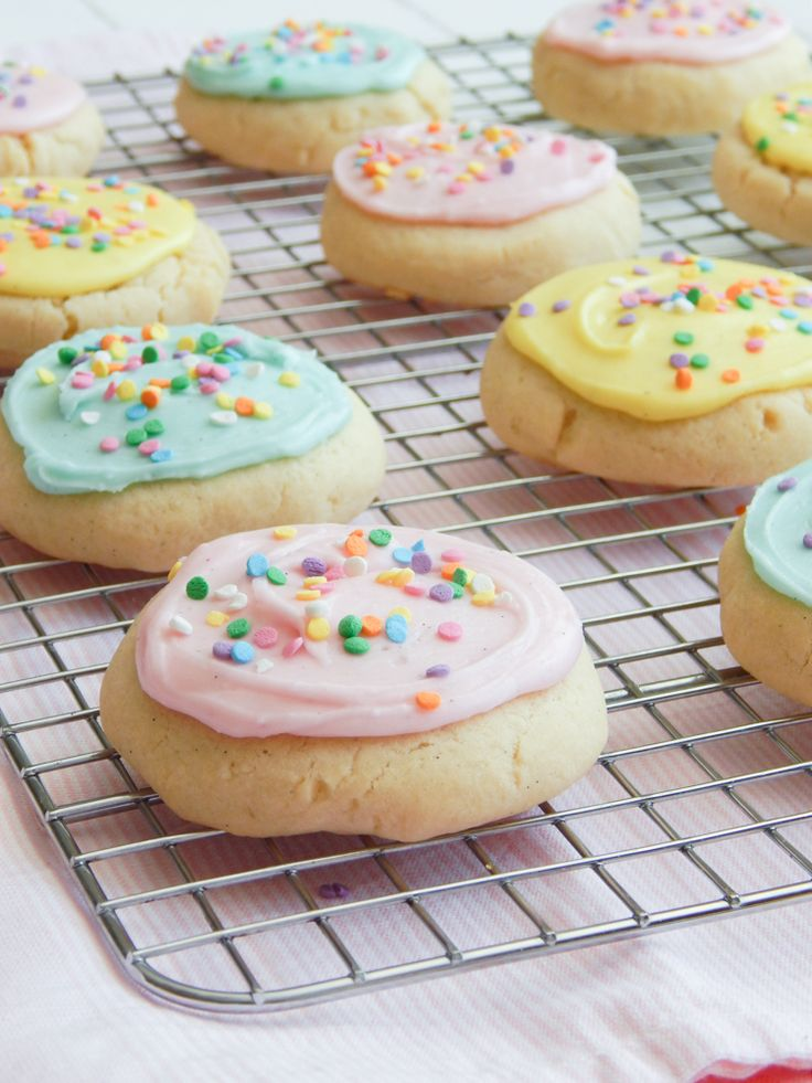 Soft Sugar Cookies with Vanilla Icing at The Dessert Chronicles