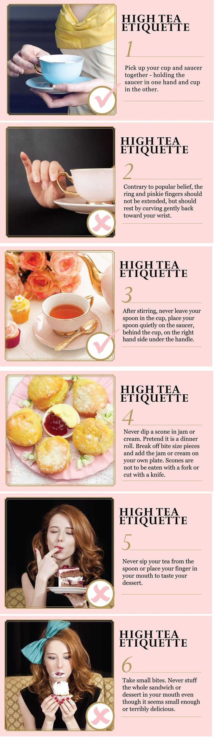 High Tea Manners - 6 rules #Ladylikelaws .... Whoops. Ok, pick up the saucer. Tea etiquettes :)