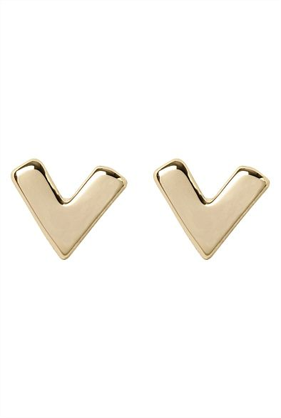 V Stud Earring #witcherystyle