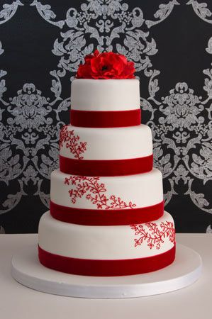 Red velvet wedding cake. This is the flavor of wedding cake that I hope to get someday :)