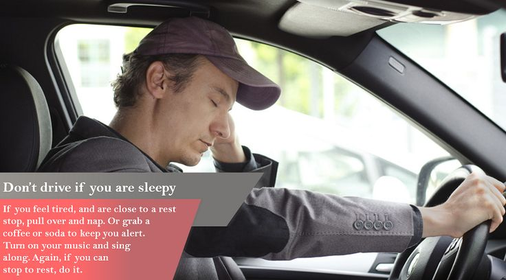 Don't Sleep, Then Drive Sleepiness impairs a person's attention, working memory and coordination skills, all crucial for safe driving. #studdedtyres